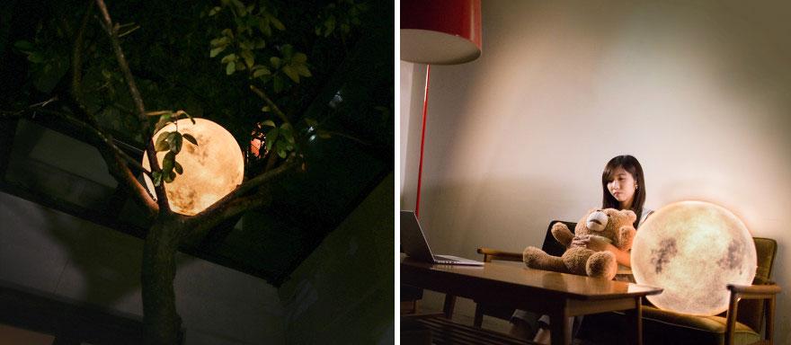 Ksiezycowa lampa Luna dekoracja, ktora zamienia przestrzen w magiczny swiat5