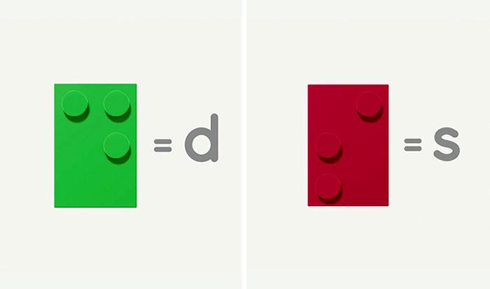Dzieci ucza się Braille'a za pomoca klockow wygladajacych jak Lego4