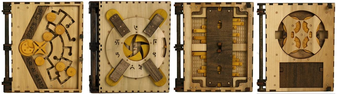 Codex Silenda drewniana ksiazka z łamiglowkami1