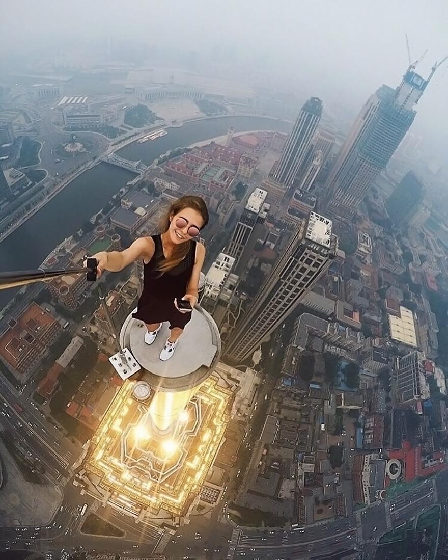 Galeria selfie wykonanych w niebezpiecznych miejscach1
