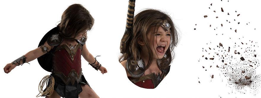 Ojciec spelnia marzenie trzyletniej corki i przemienia ja w Wonder Woman13