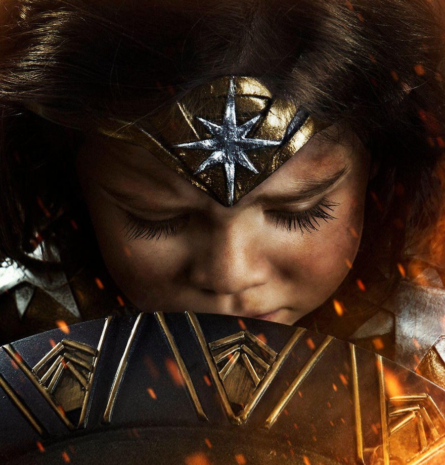 Ojciec spelnia marzenie trzyletniej corki i przemienia ja w Wonder Woman5